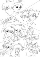 The Yu Yu Hakusho Collage by Moontouch