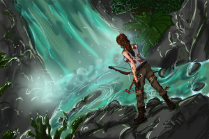 Tomb Raider - Waterfall by FortuRaider