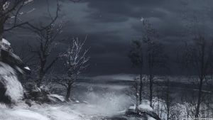 Spitpaint - Winter Landscape by abigbat