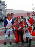 Grell and Revolutionary War England and America by JazzyJazzCosplay
