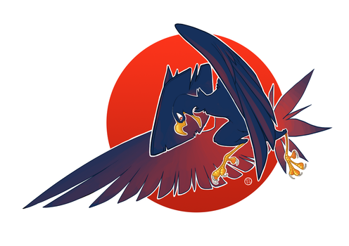 Murkrow by tasmaniacdevil