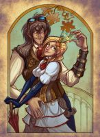 Collab: Steampunk autumn by Katerinich