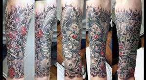 LUCK is a fools game jester half sleeve by Ashtonbkeje