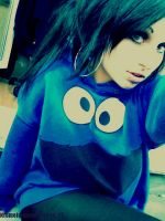 COOKIE MONSTER GIRL by lisa-lost-her-mind