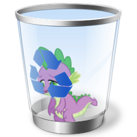 Spike Recycle Bin Icon by rileystrickland