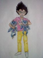 Vegeta Loves Cell Jrs by MinkisBaby