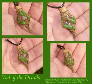 Vial of the Druids - miniature Flask by Ganjamira