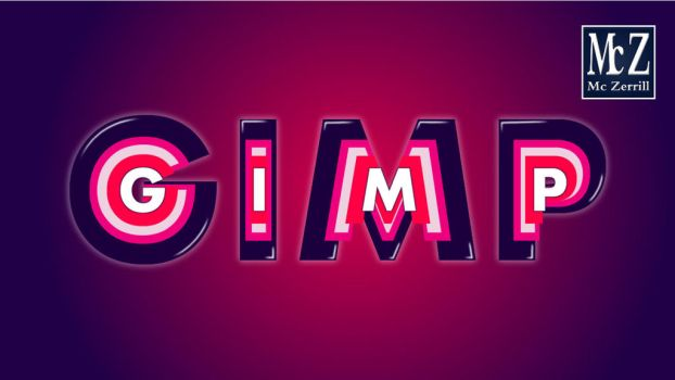 Gimp Tutorial - Text effect X Factor by McZerrill