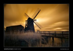 Windmill and Clouds by henroben
