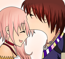 Serah and Noel by WaffleTheNomnom-chii
