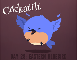 Birdstarter Day 28: Eastern Bluebird by Furrama