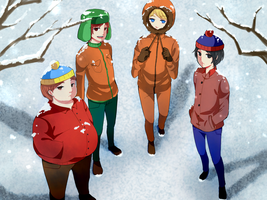 South park-snow by chan100577