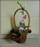 orchid in a basket by MrsEfi