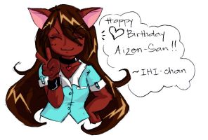 Happy b-day Aizen-san -COLOR- by Miharu-san
