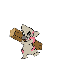 What? Timburr is Evolving! (Gif)