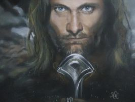 SOFT PASTEL PORTRAIT ARAGORN by blackblacksea