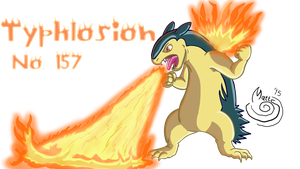 Day 41 Typhlosion by Blackn-Yellow