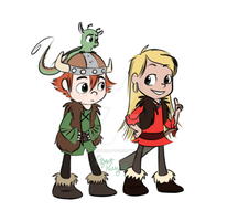 Hiccup, Camicazi and Toothless by AgentKelly13