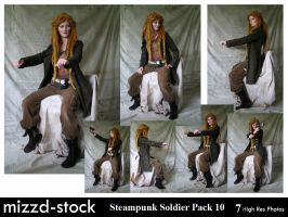 Steampunk Soldier Pack 10 by mizzd-stock