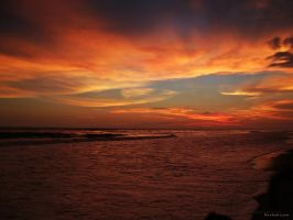 sunset on nuevo altata beach 5 by noohohIcant