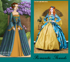 Romantic Threads Blue and Gold by msbrit90