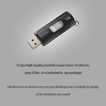 SanDisk Cruzer Micro 16Gb icon by KJV