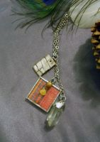 Crystal Woven Earth Charm Necklace by colormecrazi