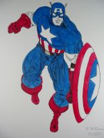 Captian America - Ink wip by 12jack12