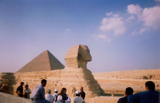 The Sphinx and a Pyramid by anubis-ra811
