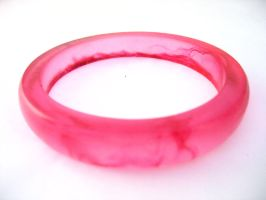 Pink swirl Rani style bangle by TopazTurtle