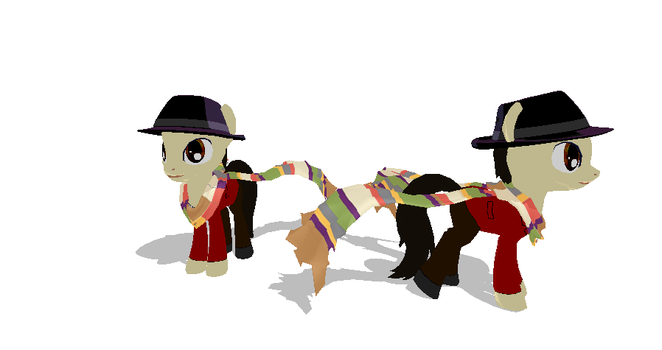 Fourth Doctor Pony + DL by Valforwing