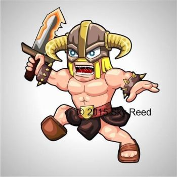 Clash of Clans - Barbarian Chibi by sky00reed