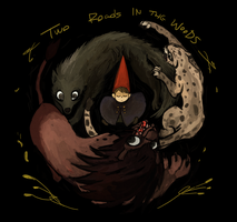 Three guardians (From Two roads in the woods) by tunaniverse