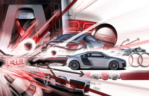 Audi R8 Montage by Ls777