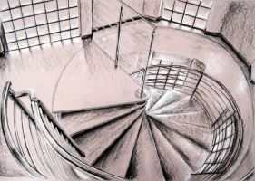 Spiral Stairs by Kirokokori