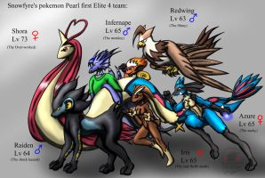 Pokemon pearl: first team by Snowfyre