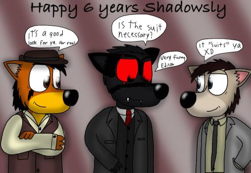 Shadowsly looks nice for his anniversary by ZachMFKAttack