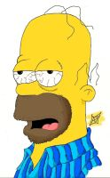 Homer Simpson Up All Night by DreadfulMonkey