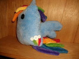 Side view of rainbow dash blob square xD by Eimiyuki