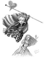 Tim Burton's Queen of Hearts by superadaptoid