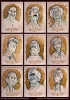 Indiana Jones Masterpieces Sketchcards by PatrickSchoenmaker