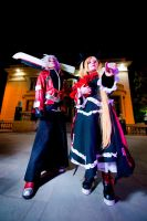 Ragna the Bloodedge and Rachel Alucard by cloeth