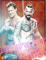 Jericho vs Punk - WrestleMania 28 - WWE by roXx81