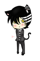 Death The Kid Neko~ nyan :3 by carlitaloca