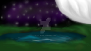 Moon and the stars by Eutniz