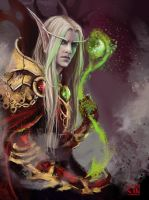 Kael's magic_sketch by RinaCane