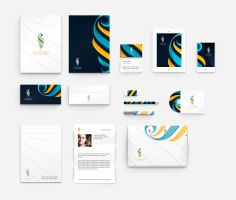 Corporate identity for Rowad leadership academy by ahmedelzahra