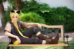 Len Kagamine - Ah, It's a Wonderful Cat Life [2] by PoisonousRationality