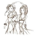 Chun-Li and Mai by bluekensou