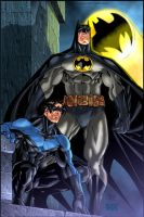 Dark Knights in color by Roderic-Rodriguez